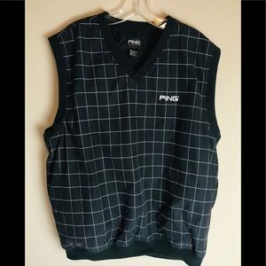 Ping Golf Vest Men's Size Large Black And White